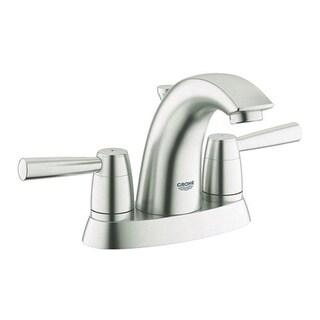Grohe Infiniti Brushed Nickel Arden 2-handle 4-inch Centerset Bathroom Faucet