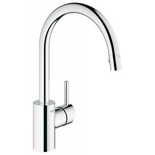 Grohe Starlight Chrome Concetto Dual Pull-down Spray Kitchen Faucet