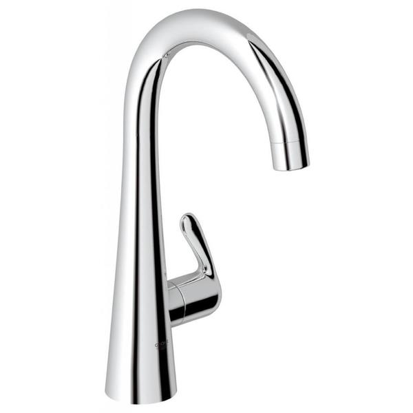 Grohe Starlight Chrome Zedra/Ladylux Pillar Tap Bathroom Faucet