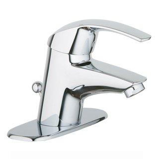 Grohe Starlight Chrome Eurosmart Pop-up and Plate Bathroom Faucet