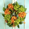 Jane Seymour Botanical Hydrangea and Magnolia Leaf Wreath