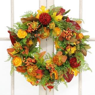 Jane Seymour Botanicals Ranunculus Dahlia Wreath