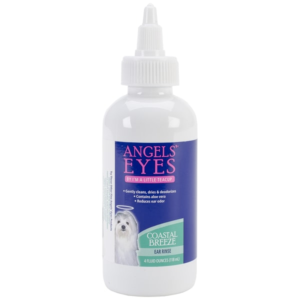 Angels' Eyes Dog & Cat Ear Rinse 4oz-Coastal Breeze