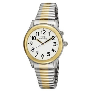 Women's Two-tone Expansion Band Spanish Talking Watch