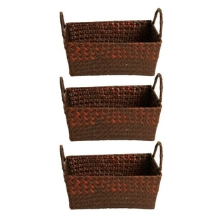 Espresso Seagrass-reed Basket (Set of 3)