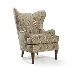 Rizzo Brown Pattern Wing Chair
