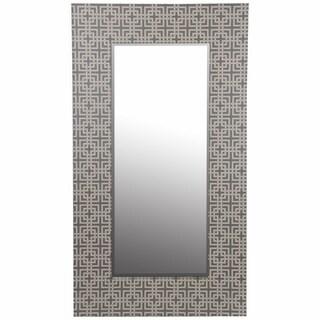 Large Grey Wood Framed Mirror