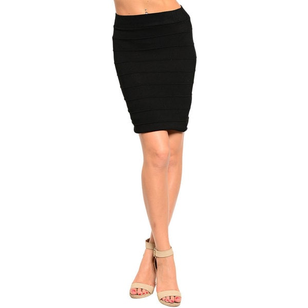 Stanzino Women's High Waisted Bandage Skirt