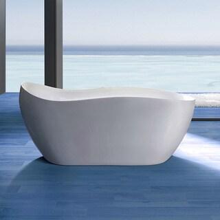 AKDY 68-inch OSF770-AK Europe Style White Acrylic Free Standing Bathtub