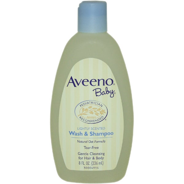Aveeno Lightly Scented 8-ounce Baby Wash and Shampoo