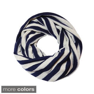 Justin and Taylor Striped Infinity Scarf