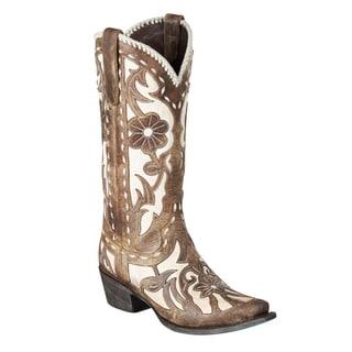 Lane Boots Women's 'Poison' Floral Mid-calf Cowboy Boots