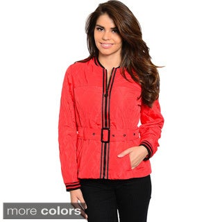Feellib Women's Two-tone Athletic Striped Jacket