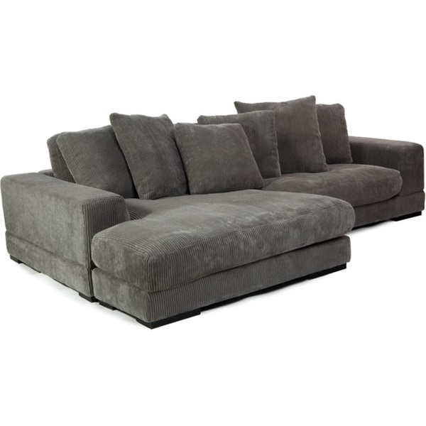 Charcoal Grey Sectional Sofa - Overstock™ Shopping - Big Discounts ...
