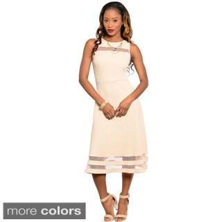 Stanzino Women's Sleeveless Mid-length A-line Dress