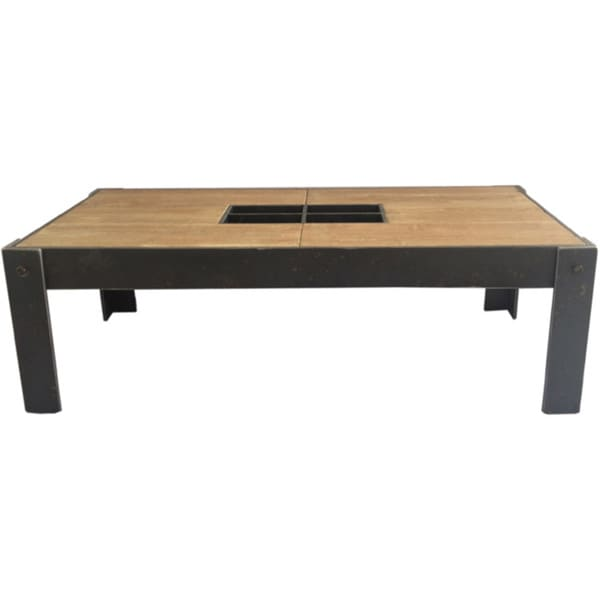 Aurelle Home Rough Rectangle Coffee Table