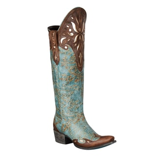 Lane Boots Women's 'Sunburst' Turquoise/ Brown Cowboy Boots