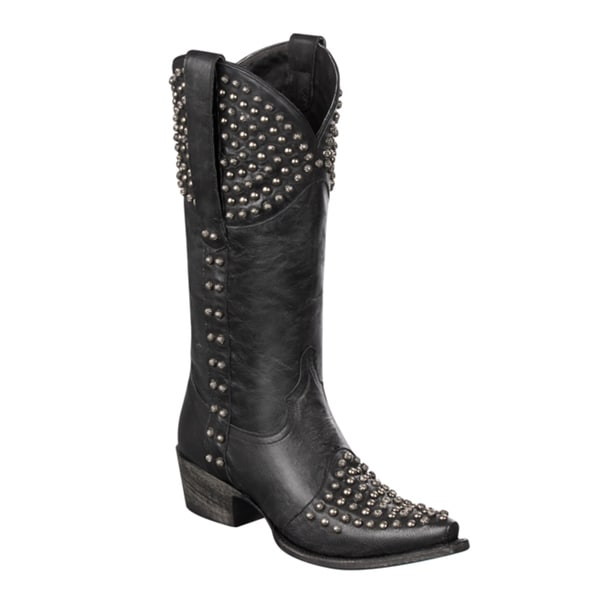 Lane Boots Women's 'Rock On' Black Stud Cowboy Boots