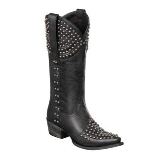 Lane Boots Women's 'Rock On' Black Stud Cowboy Boots