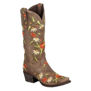 Lane Boots Women's 'Summer Bounty' Brown Leather Cowboy Boots