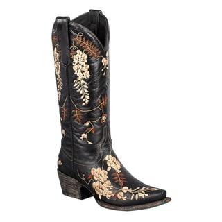 Lane Boots Women's 'Wisteria' Black Cowboy Boots