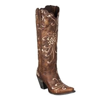 Lane Boots Women's 'Fuji Mum' Brown Leather Cowboy Boots