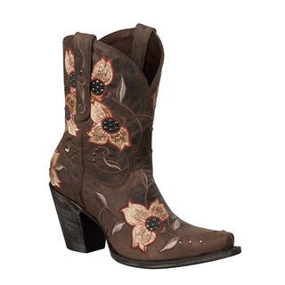 Lane Boots Women's 'Heritage Shortie' Embroidery Cowboy Boots