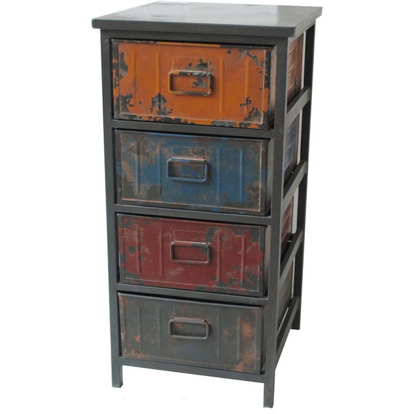 Aurelle Home Distressed Drawer Cabinet