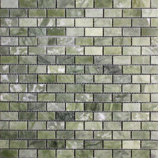 Surfaces USA .625 x 1 Ocean Green Polished Marble Mosaic (Pack of 10)