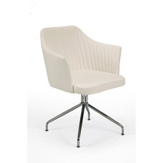Aurelle Home Alli White Armchair