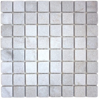 Surfaces USA White Quartzite Slate Mosaic (Pack of 10 Sheets)