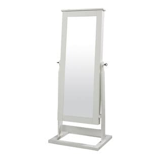 Powell White Cheval Mirror