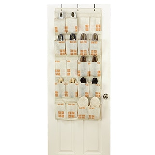 SedaFrance Cameo Key Cream 20-pocket Shoe Organizer