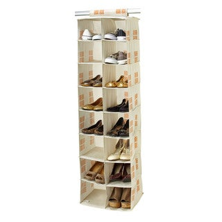 SedaFrance Cameo Key Cream 16-pocket Shoe Organizer