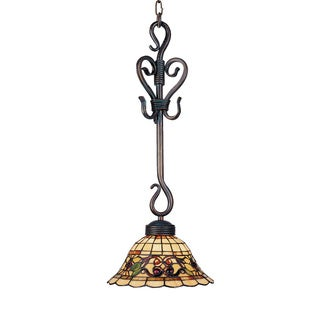 Elk Lighting Tiffany Buckingham 1-light Vintage Antique Pendant