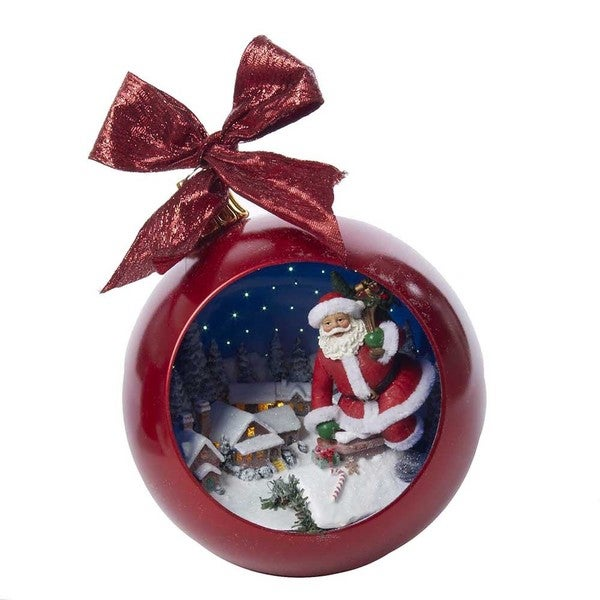 Kurt Adler 250mm Santa in Chimney Musical Ball