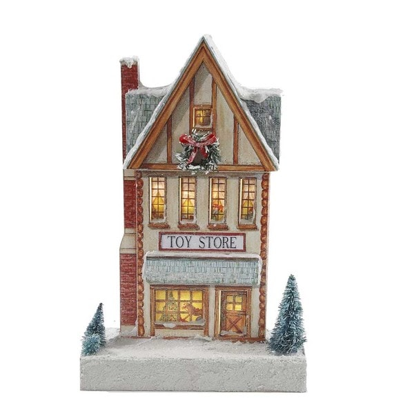 Kurt Adler 11.82-inch Kringle Lane LED Toy Store