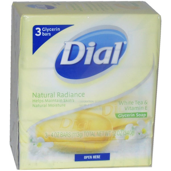Dial White Tea and Vitamin E Glycerin 4-ounce Soap (Pack of 3)