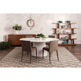 Aurelle Home Mona Cappuccino Dining Chairs (Set of 2)