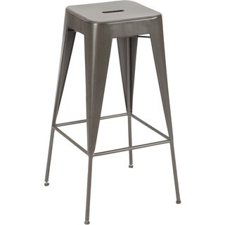 Miller Lake Industrial Metal Bar Stool