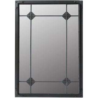 Grove Large Black Wall Mirror