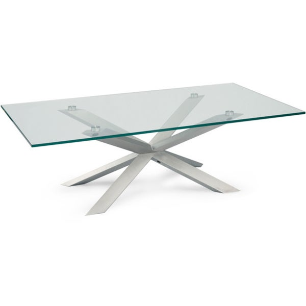 Rectangle glass dining room table - Aurelle Home Amanda Glass Top Rectangle Coffee Table 16669228