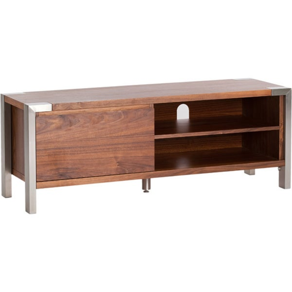 Aurelle Home Tony Walnut TV Table