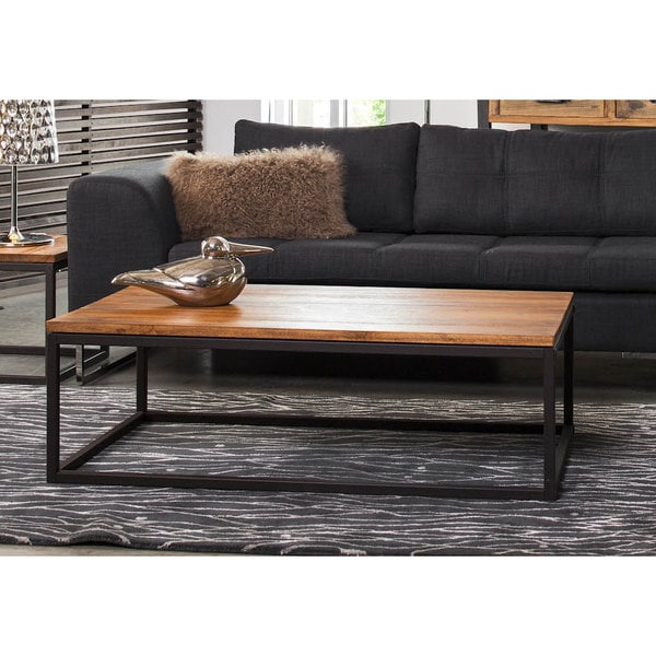 Aurelle Home Solid Teak Rectangular Coffee Table