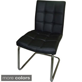 Aurelle Home Cannes Black Dining Chairs (Set of 2)