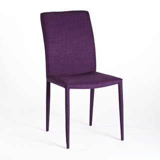 Aurelle Home Pari Purple Dining Chairs (Set of 2)