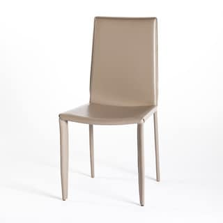 Aurelle Home Melody Taupe Dining Chairs (Set of 2)