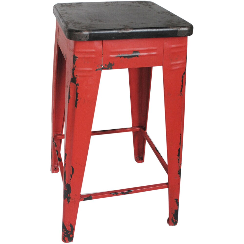 Overstock.com Industrial-style Distressed Counter Stool