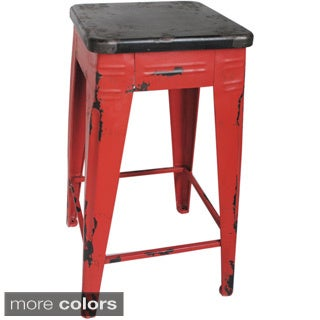 Aurelle Home Industrial and Distressed Counter Stool