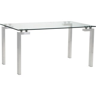 Anderson Glass/ Steel Dining Table